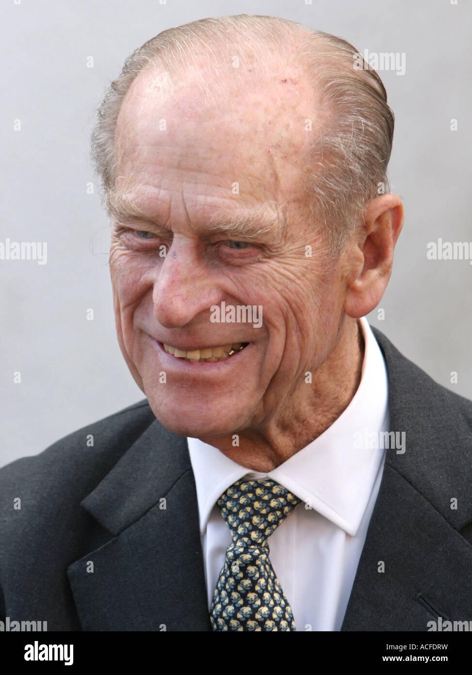S.a.r. el Príncipe Felipe, Duque de Edimburgo sonriendo Imagen De Stock
