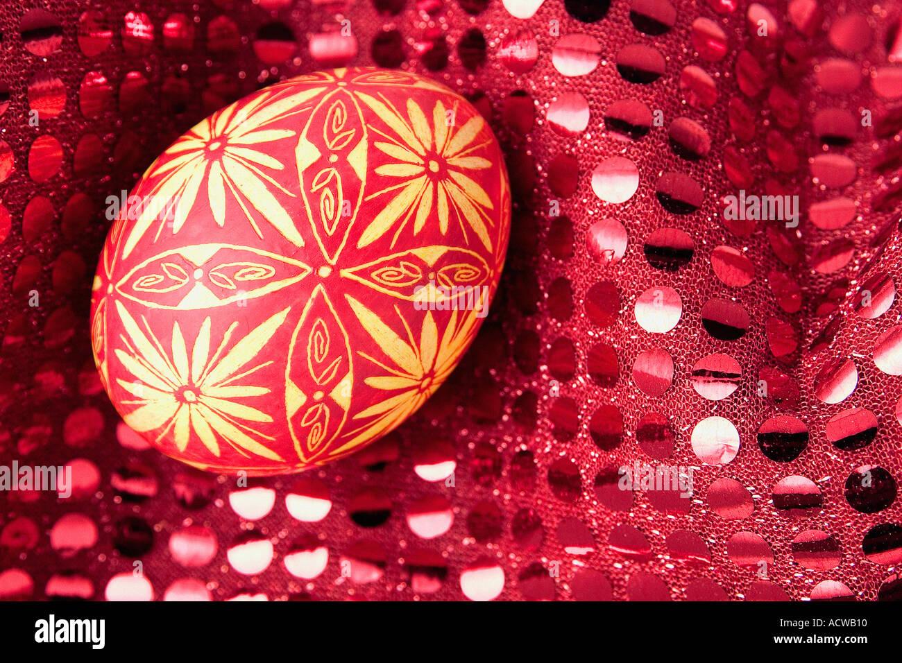 Huevo de pascua de entramado Foto de stock