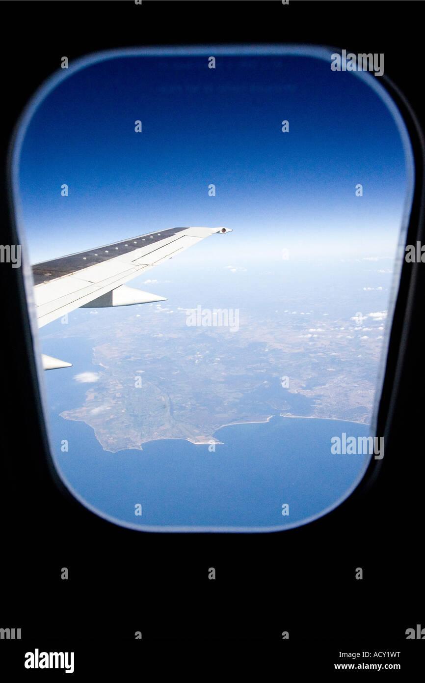 Vista desde un avión Foto de stock