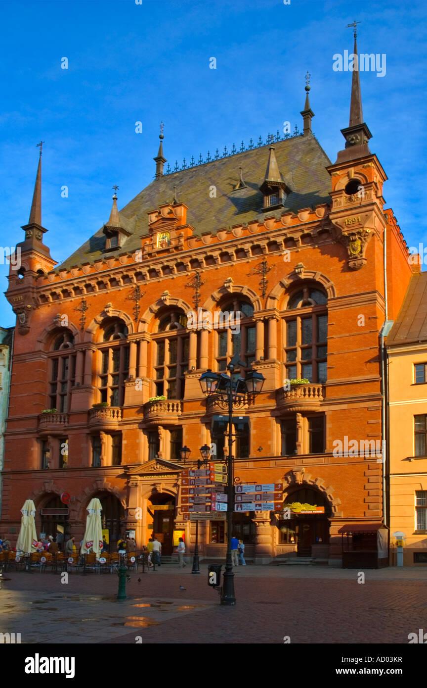 Dwor Artusa en ciudad vieja, en el centro de Torun, Polonia UE Imagen De Stock