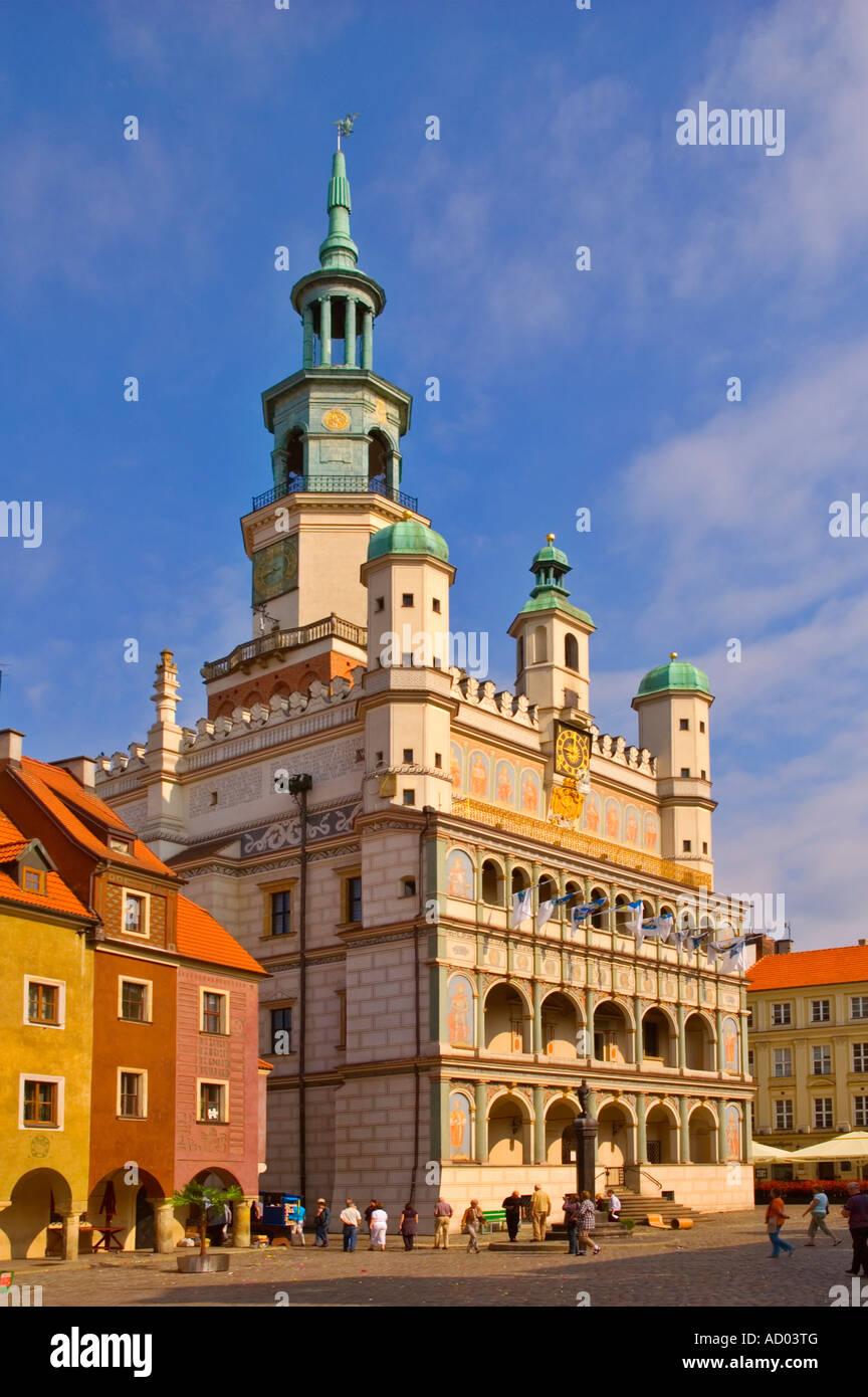 Old Town Hall, en el centro de Poznan, Polonia UE Imagen De Stock