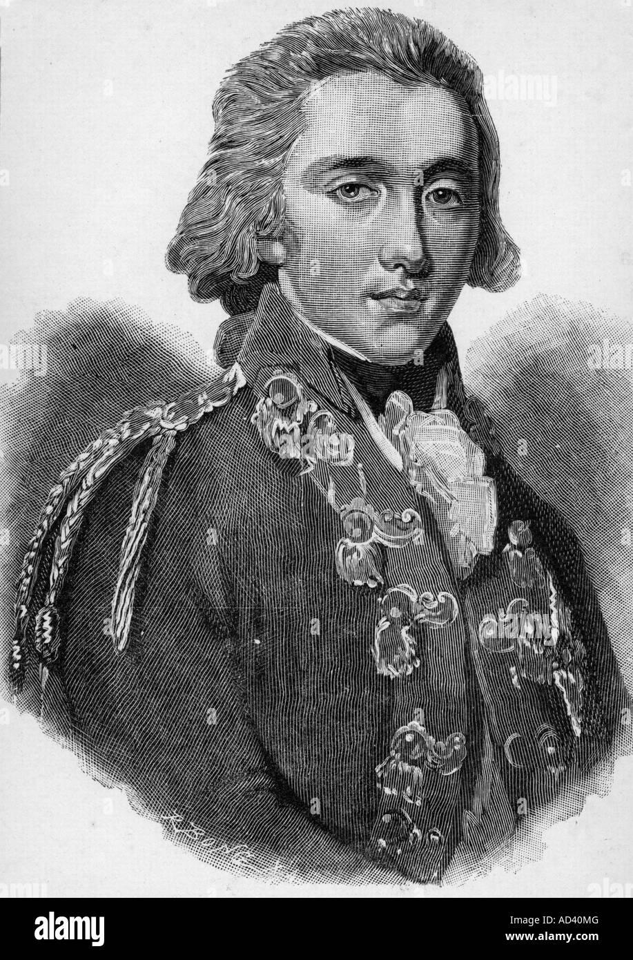 Guillermo I, 24.8.1772 - 12.12.1843, Rey de los Países Bajos 16.3.1814 - 7.10.1840, retrato, grabado, después Imagen De Stock