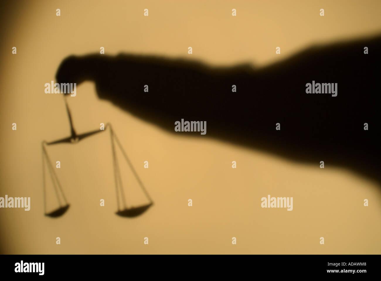 Balanza de la justicia. Foto de stock