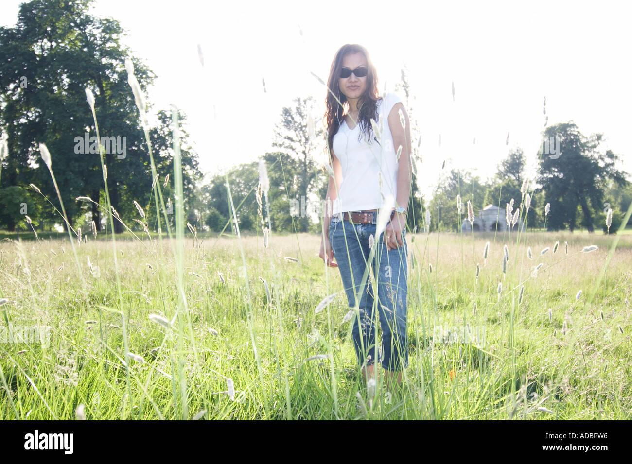 El verano en el parque Imagen De Stock
