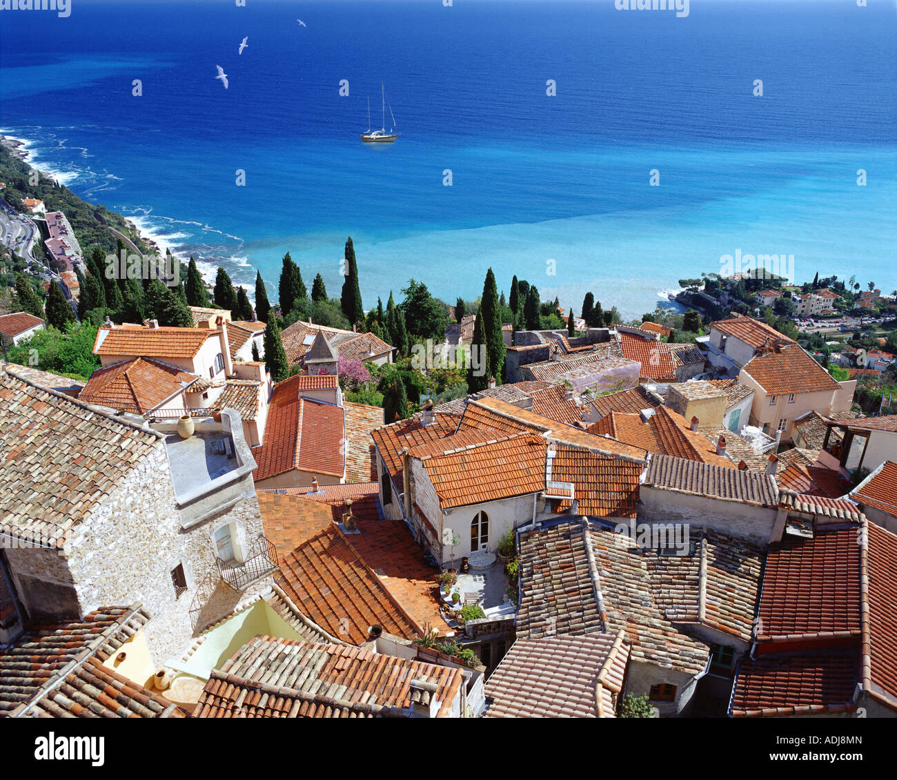 FR - COTE D'Azur: Pueblo de Roquebrune Cap Martin Imagen De Stock