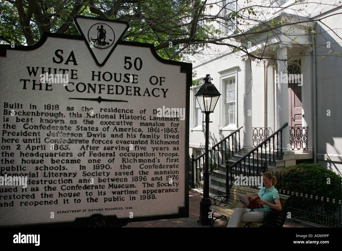 Virginia, va, Sur, Richmond, Casa Blanca de la Confederación, construido, 1818, Guerra Civil, visitas turísticas Foto de stock