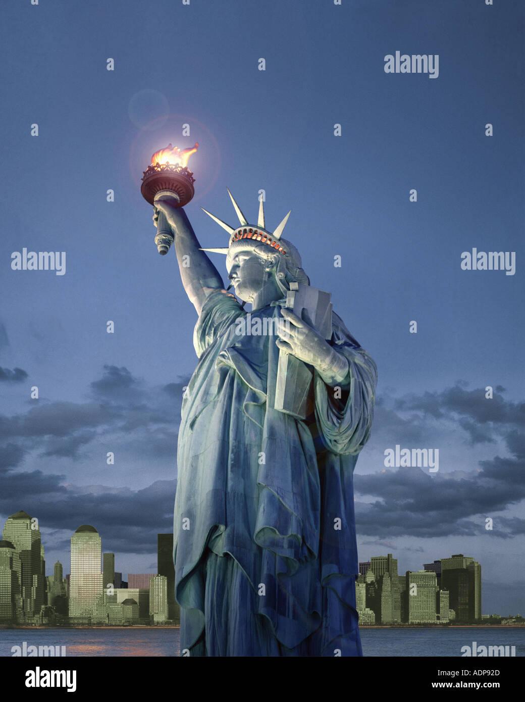 Estados Unidos - Nueva York: la estatua de la Libertad Imagen De Stock