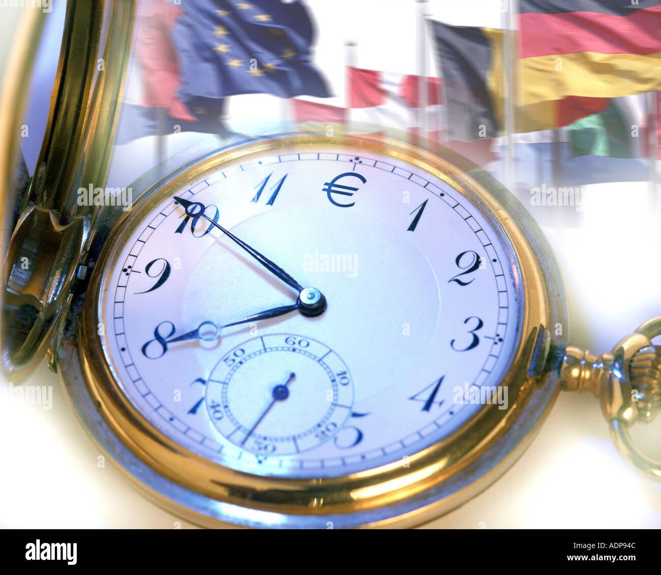 Concepto: Euro tiempo Imagen De Stock