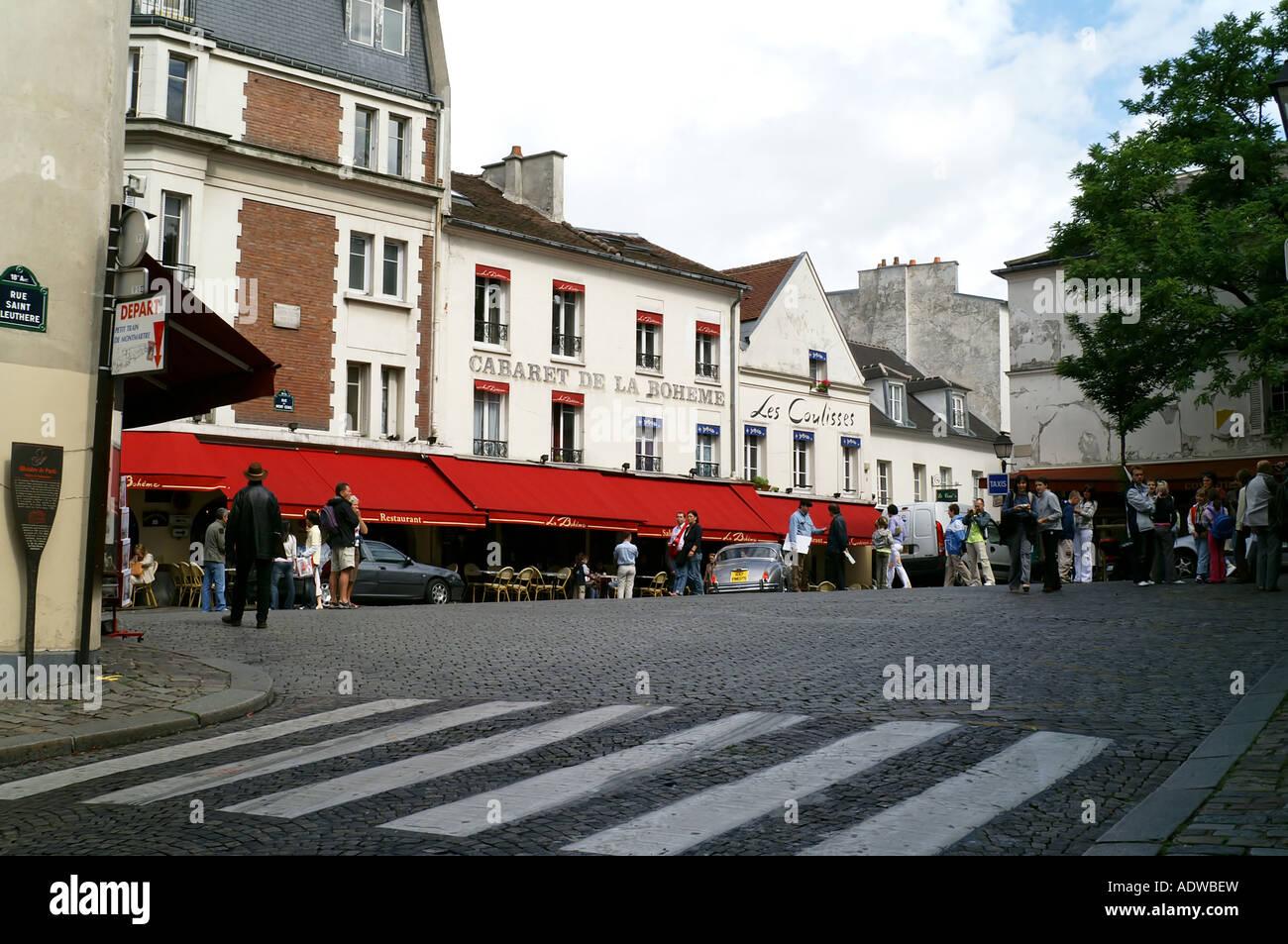 Square, Montmartre, París Foto de stock