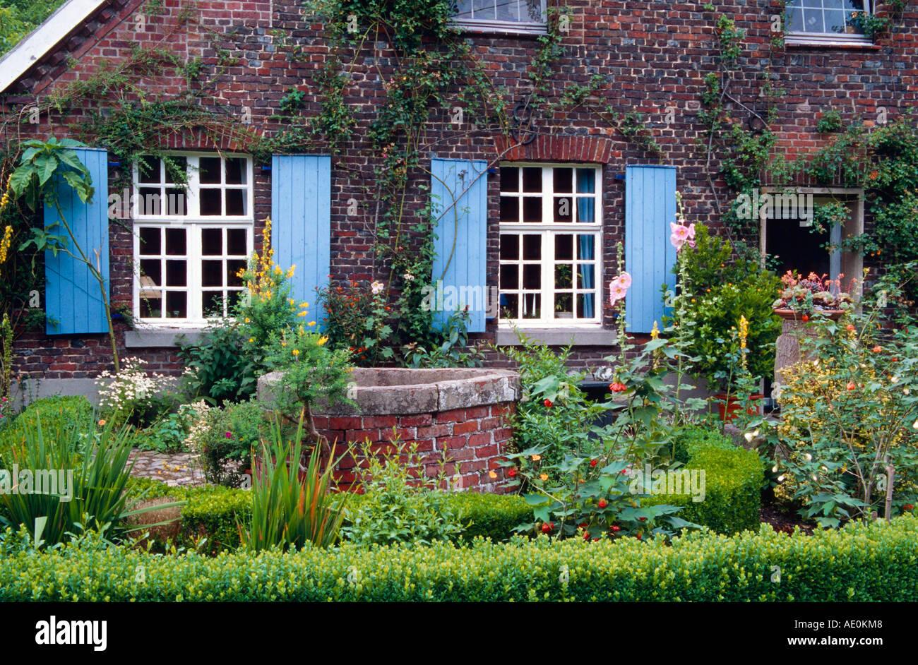 Hermoso jardín aspecto Garten Gartenimpression NRW Nordrhein Westfalen Niederrhein Garten Schlatt Imagen De Stock