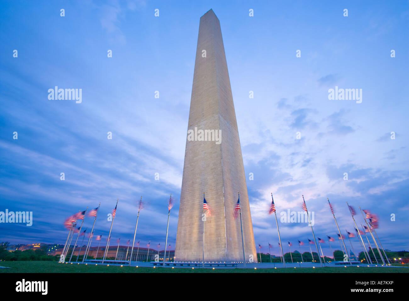 Ee.Uu. Washington DC, el monumento a Washington Imagen De Stock
