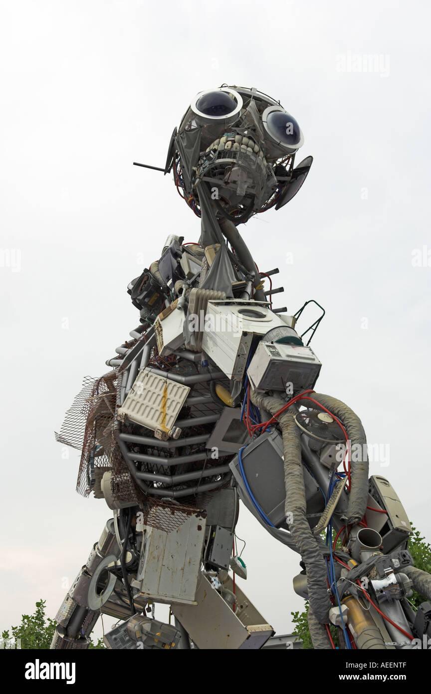 Escultura WEEEMan Foto de stock