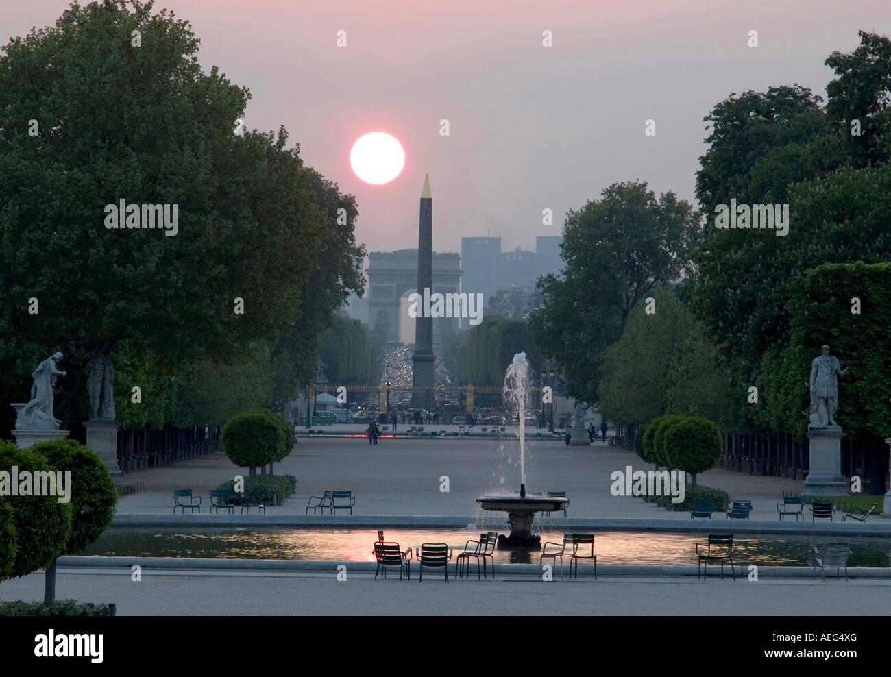 Jardin des Tuilleries, París Francia Foto de stock
