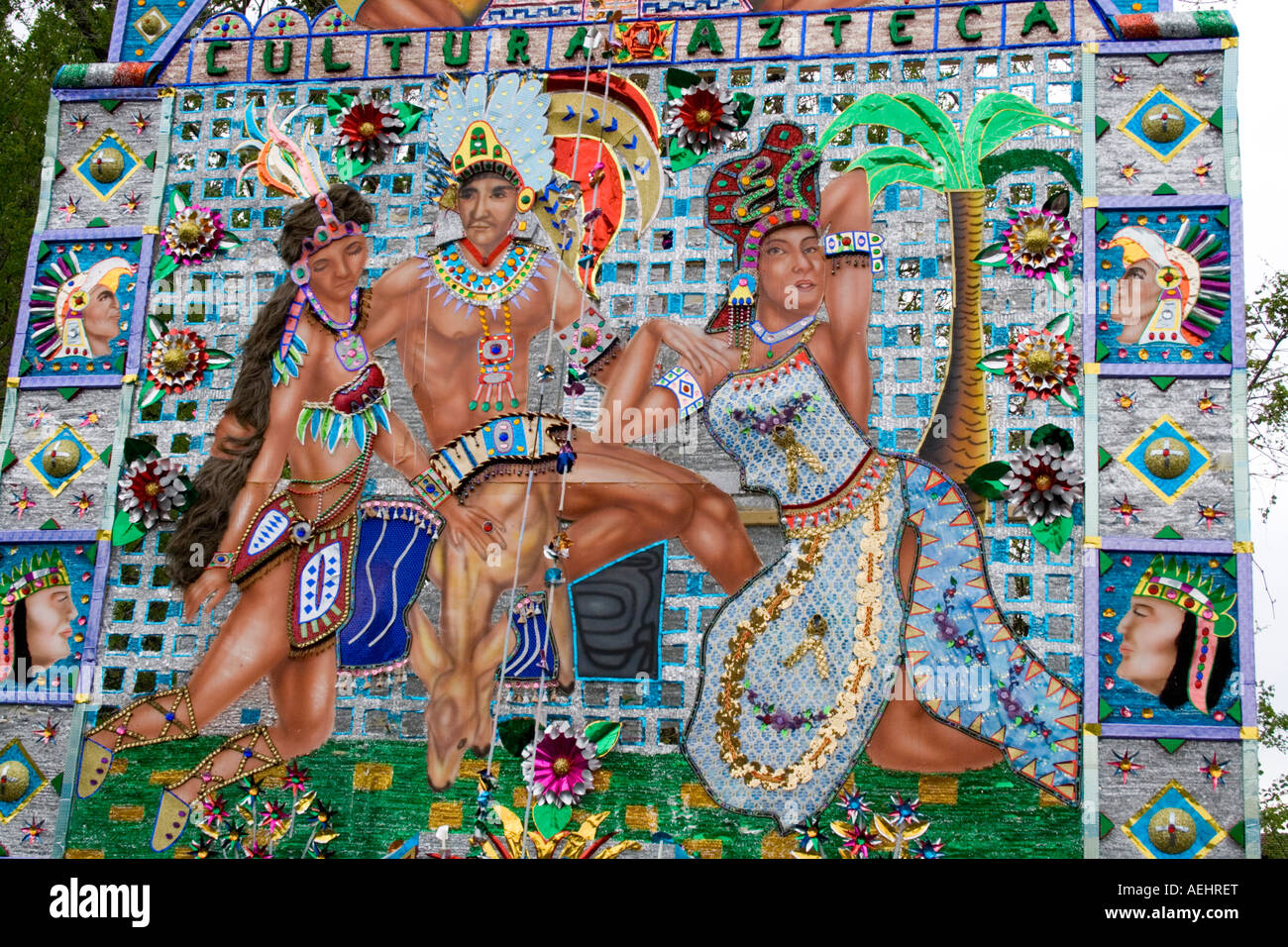 La Sección De Póster Con Pinturas Representando A La Cultura De Los