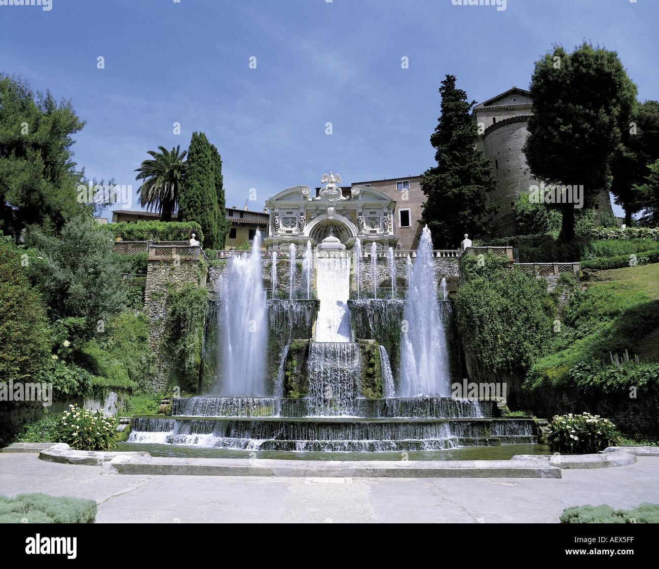 Fontana dell Organo Villa d Este Patrimonio Mundial TIVOLI ITALIA Imagen De Stock