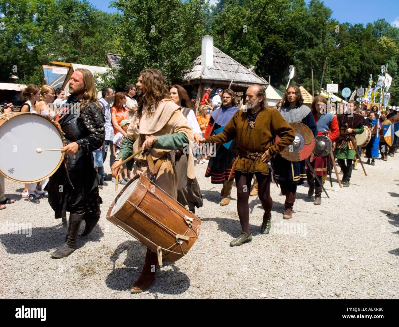 Alemania Baviera Kaltenberg Ritterturnier festival medieval Knight Foto de stock
