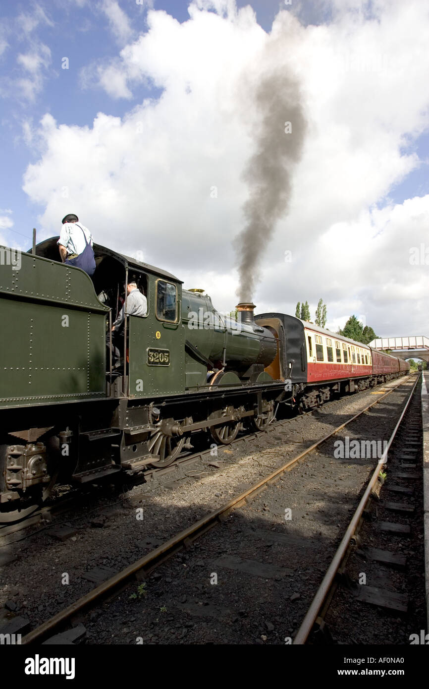 Tren de vapor GWR Toddington Engllish Cotswolds Imagen De Stock