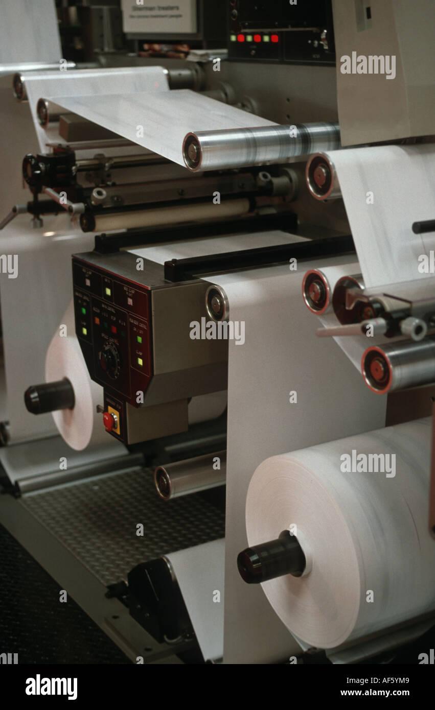 Industria del papel de la máquina de impresión Imagen De Stock