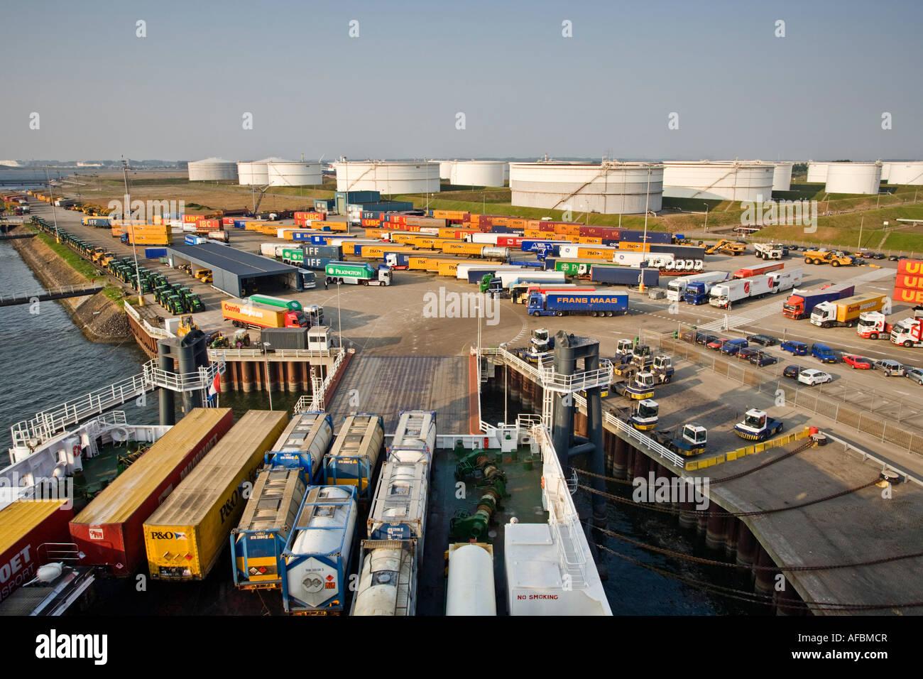 Terminal portuaria de Rotterdam Europoort, Países Bajos, Holanda Imagen De Stock