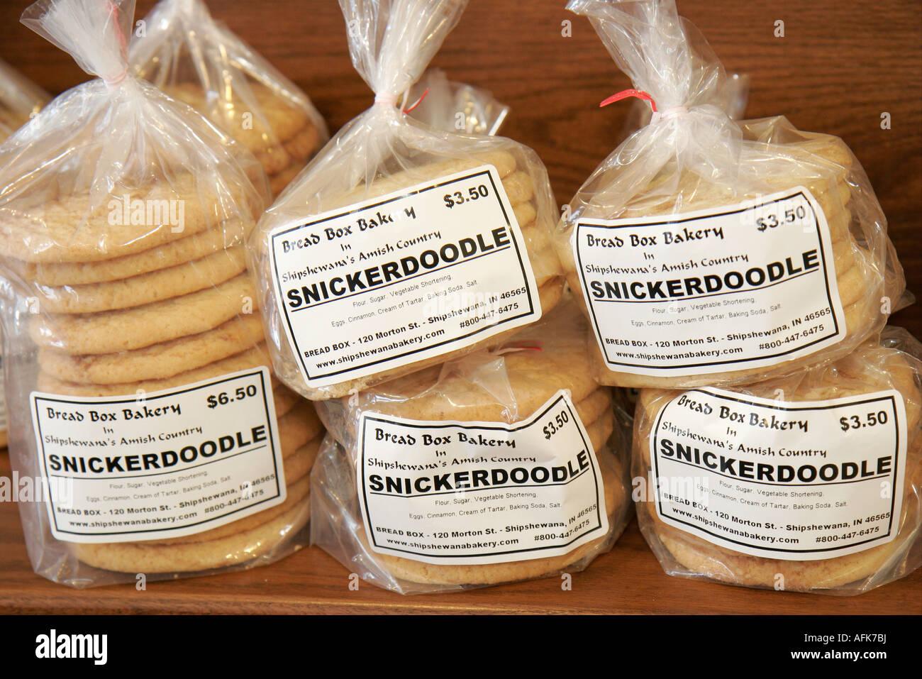 Indiana Shipshewana caja de Pan Panadería y Cafetería snickerdoodle Amish  cookie Imagen De Stock bbcb3a19f7e