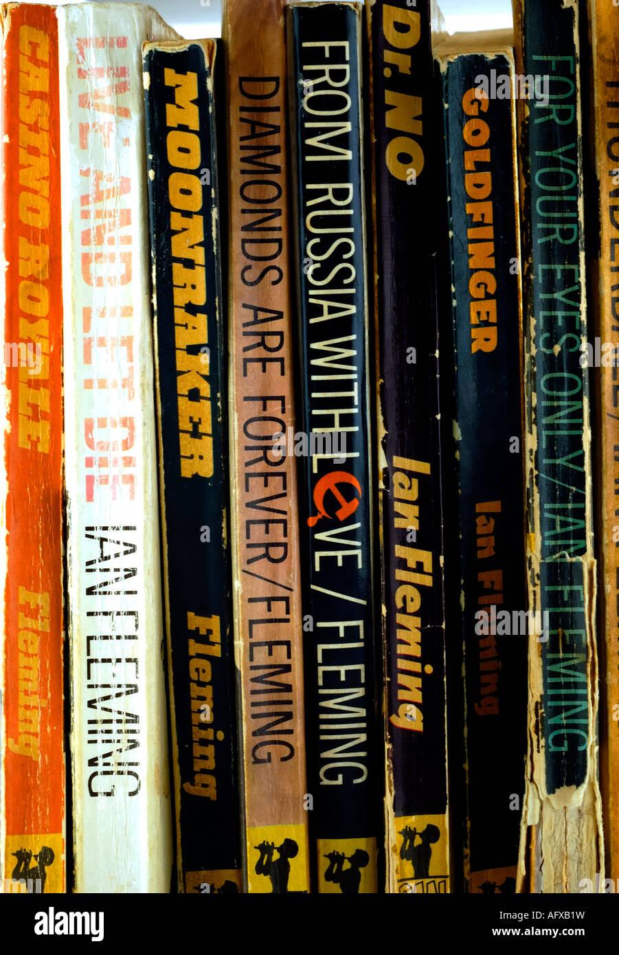 James Bond libros en rústica por Ian Fleming Imagen De Stock