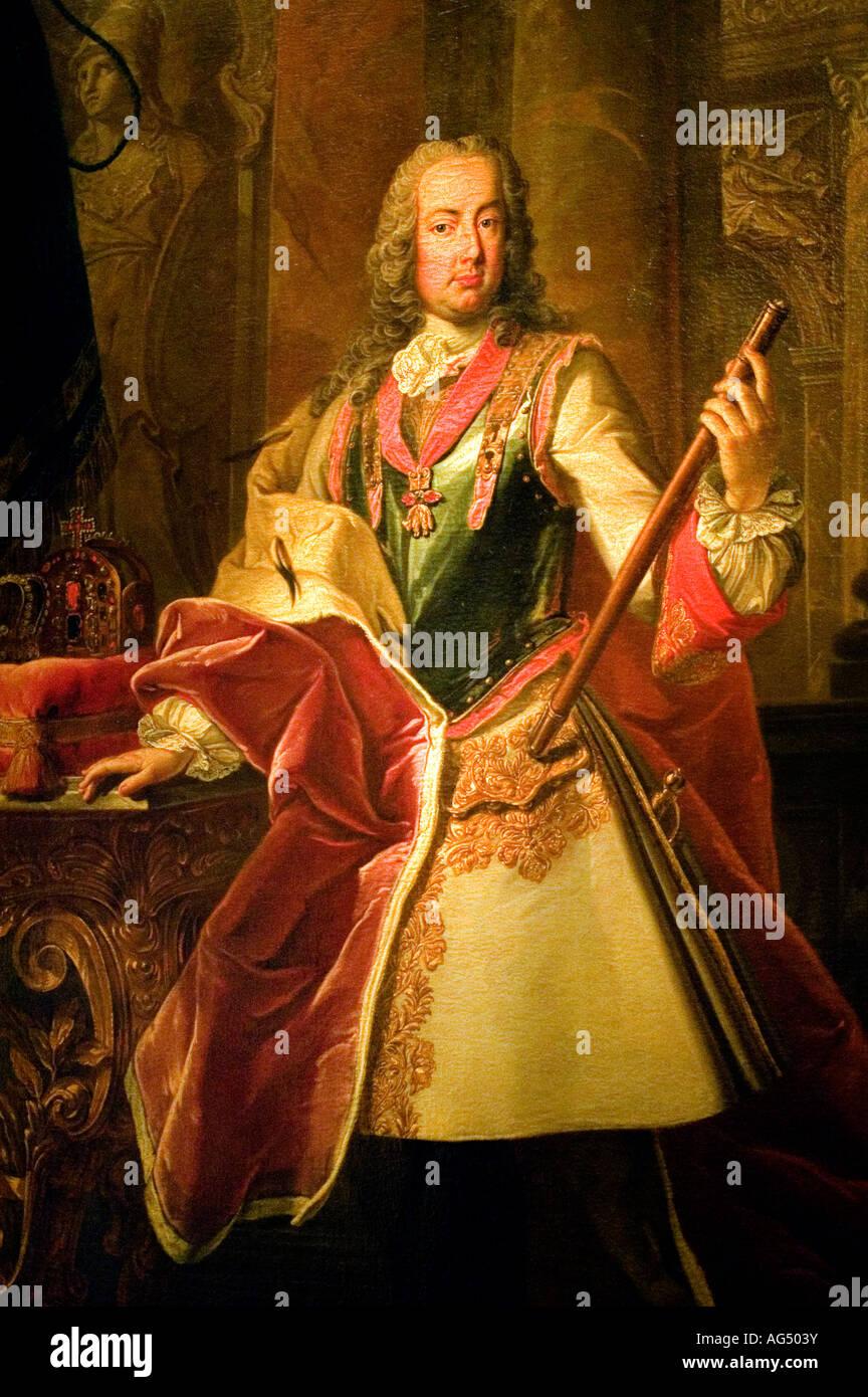 Retrato Del Estado Francisco I Emperador Del Sacro Imperio Romano Germánico 1745 1765 Fotografía De Stock Alamy