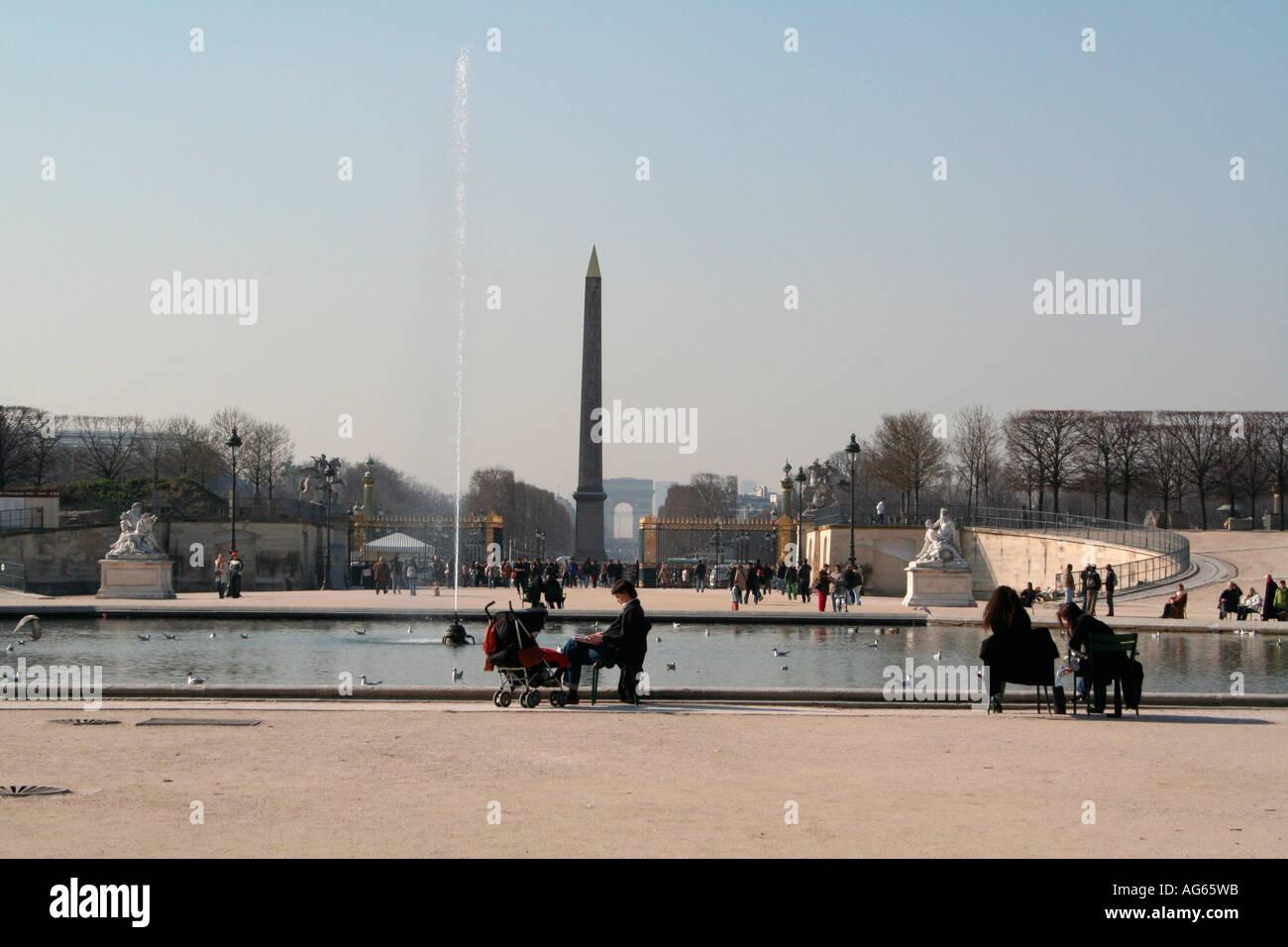 Jardin des Tuilleries Paris Foto de stock