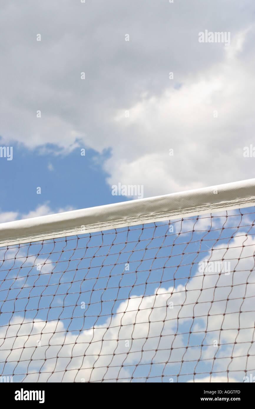 El balonvolea Sport net en corte Imagen De Stock