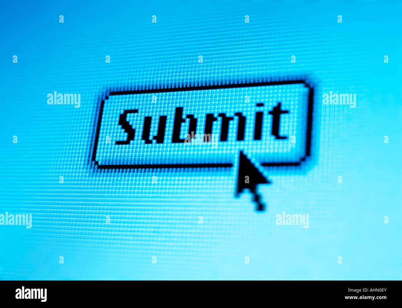 Botón Enviar a internet Imagen De Stock