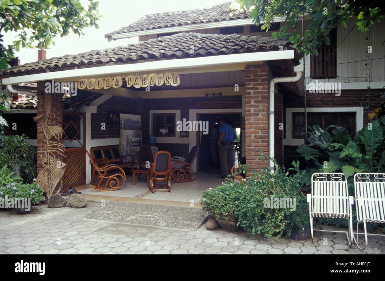 El Hotel Villa Paraíso, Isla de Ometepe o la Isla de Ometepe, Nicaragua Imagen De Stock