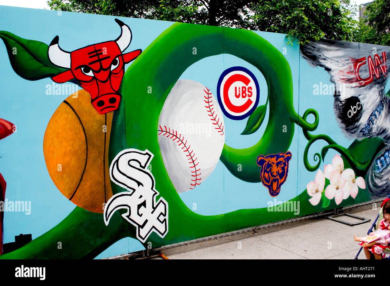 7e6b2bb227a1f Obras de arte de la calle de equipos deportivos de chicago cubs jpg  1300x956 Equipos de