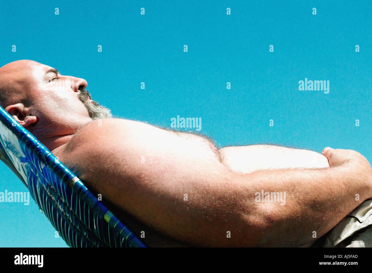 Balding Man Overweight Imágenes De Stock   Balding Man Overweight ... 690654f6a4572