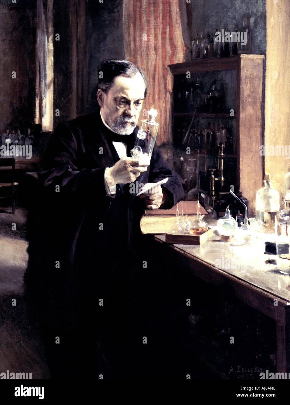 """""""Luis Pasteur"""", 1885. Artista: Albert Edelfelt Foto de stock"""