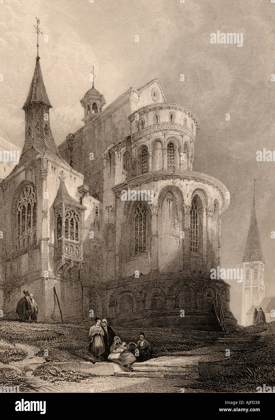 Iglesia de Santa Maria im Kapitol, Colonia, Alemania. Imagen De Stock