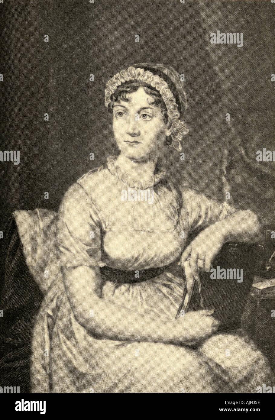 Jane Austen, 1775 - 1817. Novelista inglés. Imagen De Stock