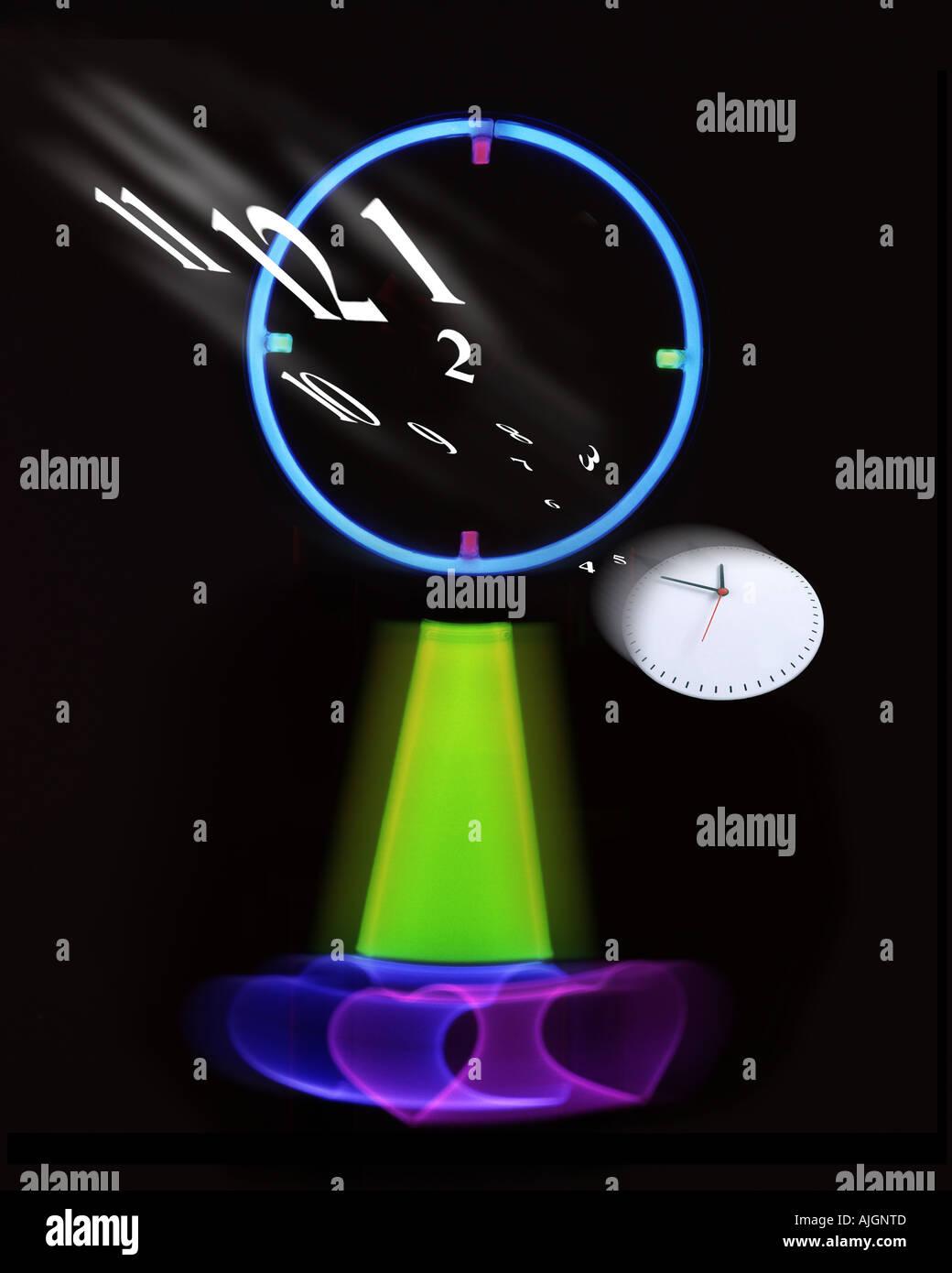 Concepto Fotografía: Tempus Fugit o a medida que pasa el tiempo Imagen De Stock