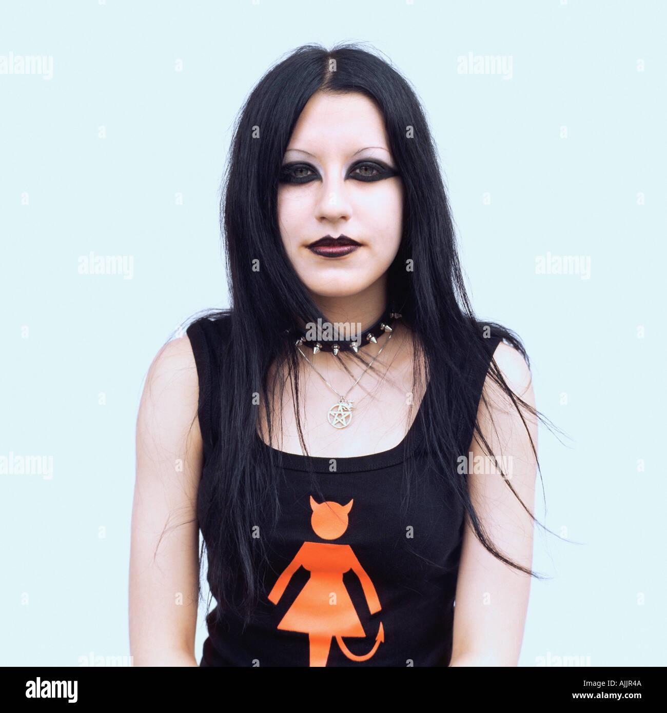 Retrato de una mujer goth Imagen De Stock