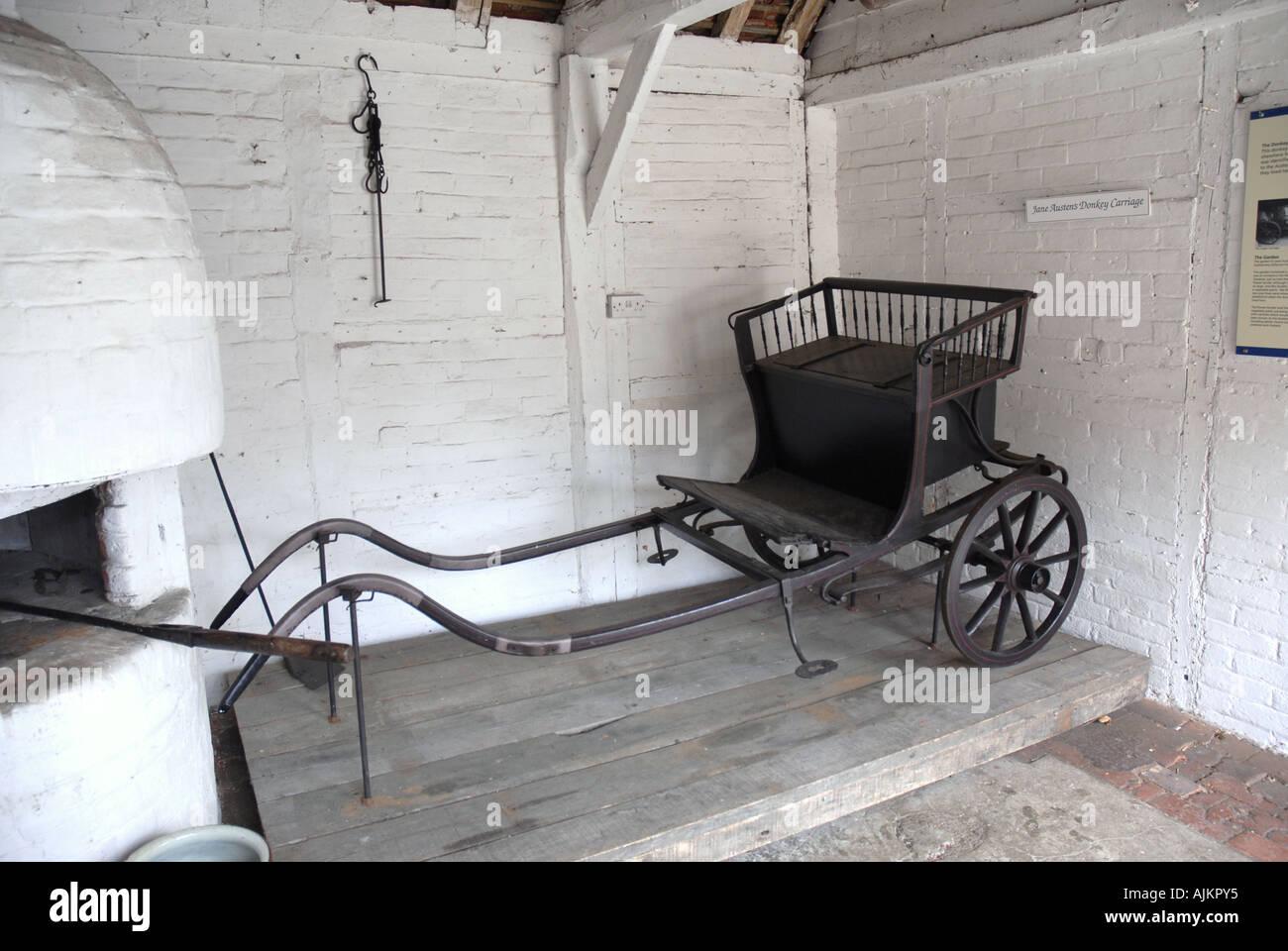 La carreta de burro utilizado por la casa de Jane Austen en Chawton Hampshire Imagen De Stock