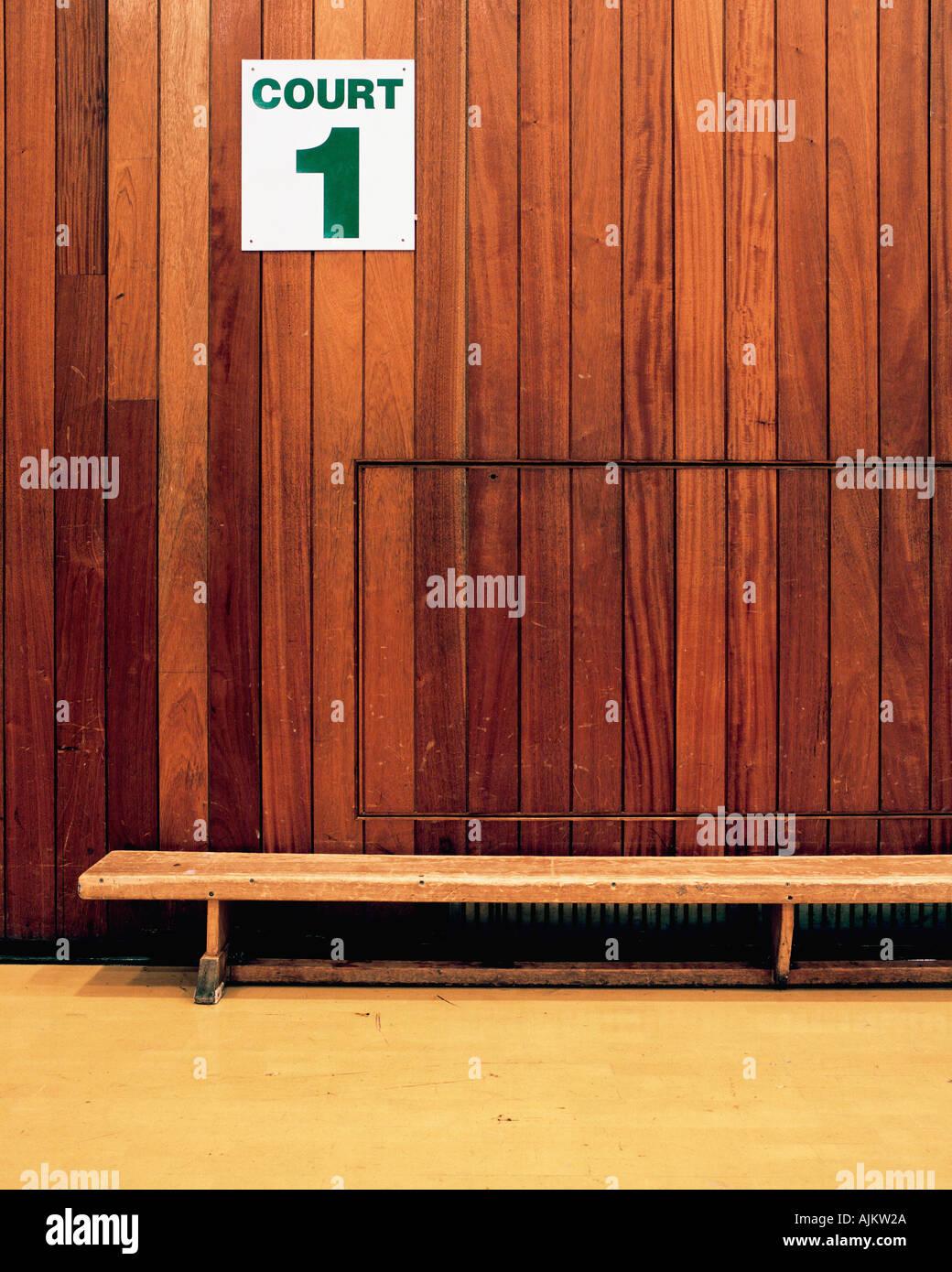 Vaciar la cancha deportiva Imagen De Stock