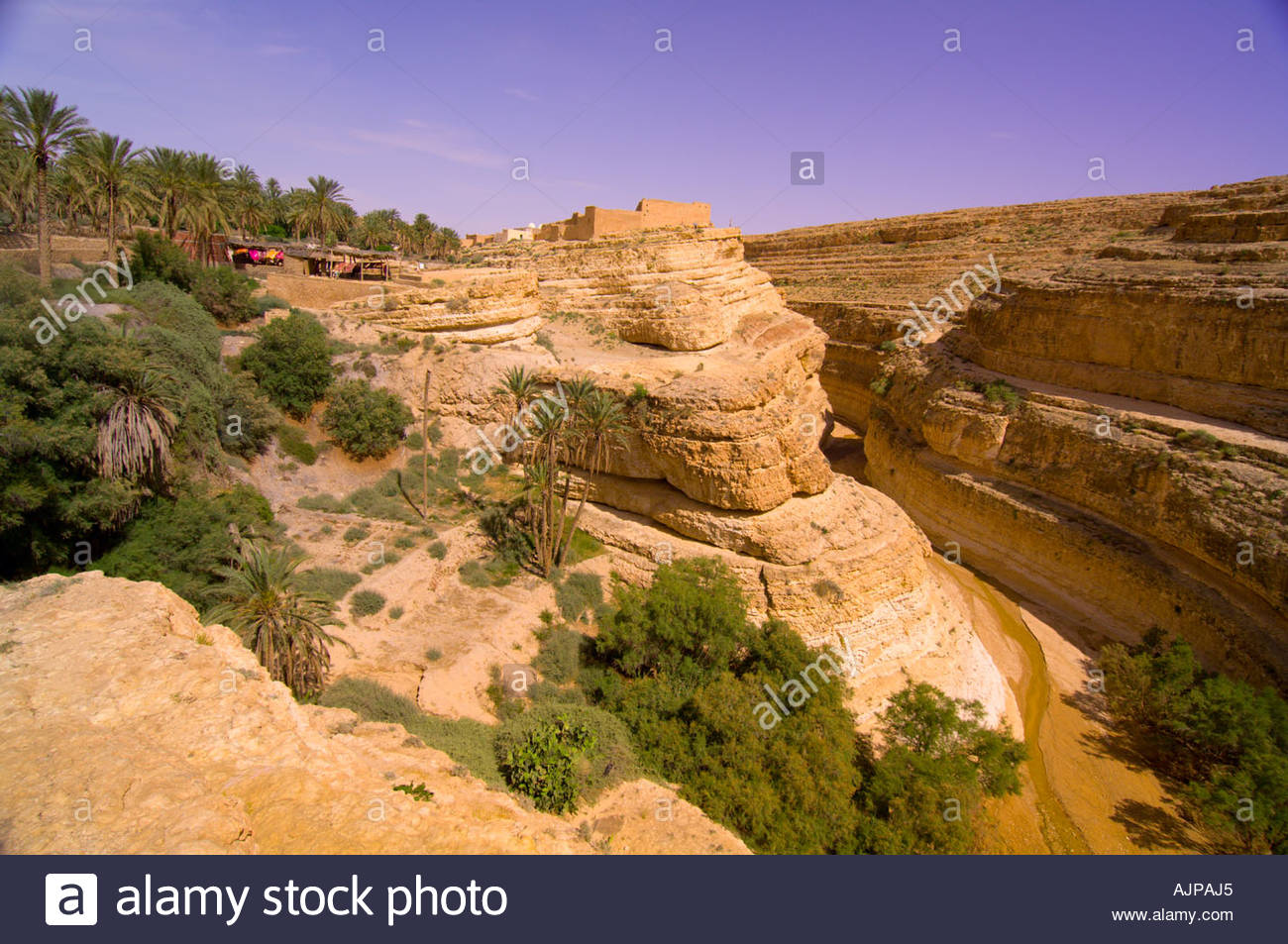 Mides Gorge, el desierto del Sahara, Túnez Foto de stock