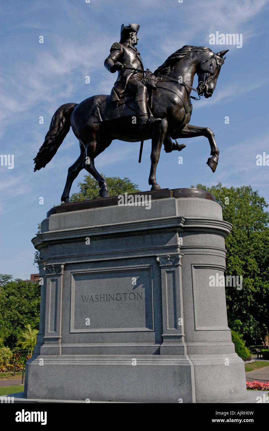 Estatua de George Washington, Boston Commons Imagen De Stock