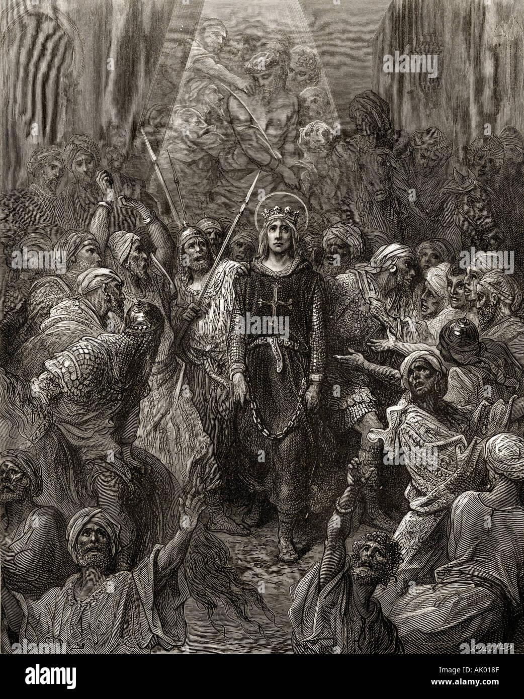 El rey Luis IX Eygypt tomados prisioneros en 1250 durante la séptima cruzada. Luis IX, 1214 -1270, alias Saint Louis. El rey de Francia. Foto de stock