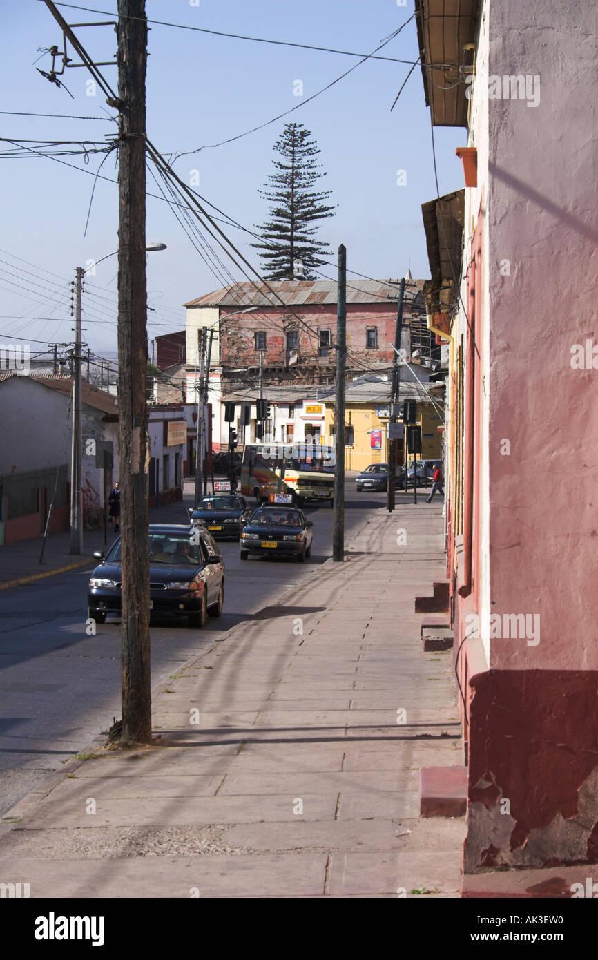 Escena callejera en La Serena. Foto de stock