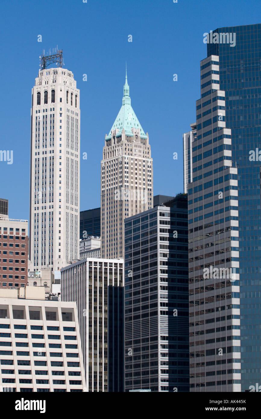 Cluster Buildings In Manhattan Imágenes De Stock & Cluster Buildings ...