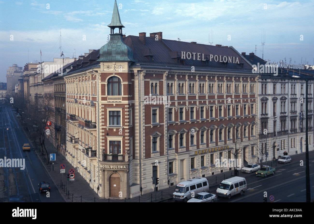 Cracovia, Hotel Polonia Imagen De Stock