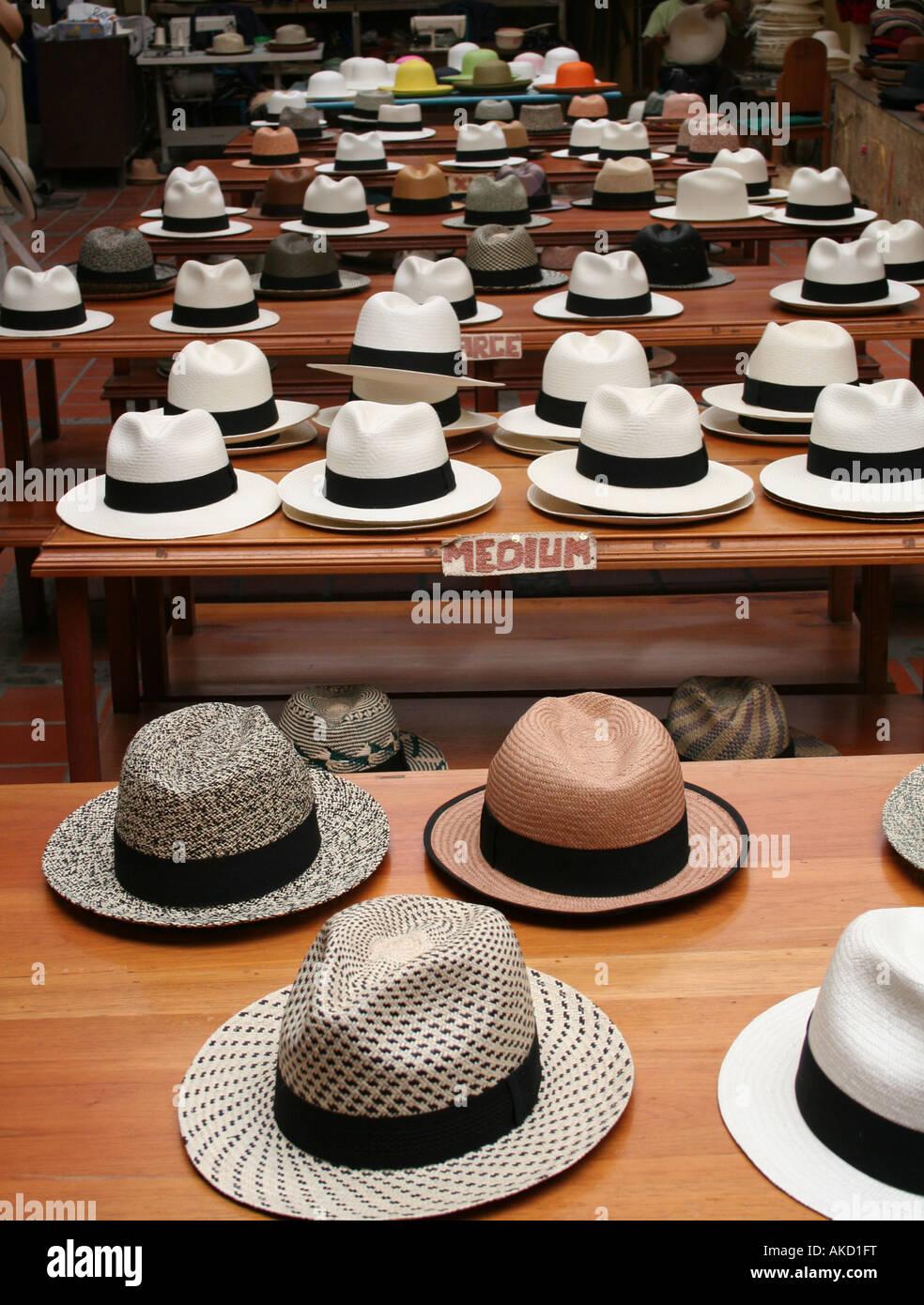 9a9550dd73355 Sombreros de Panamá para la venta en una fábrica en Montecristi ...