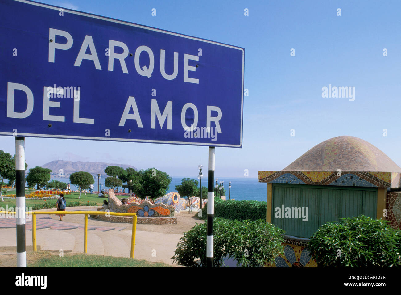 Miraflores: el parque del amor, Lima, Perú. Imagen De Stock