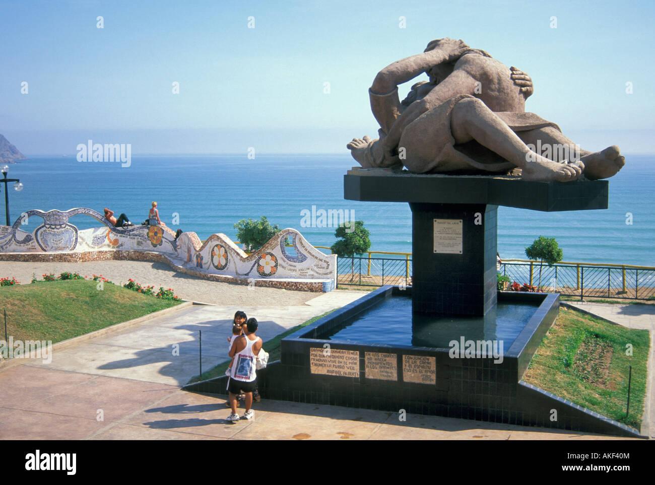 Miraflores: el parque del amor, Lima, Perú. Foto de stock