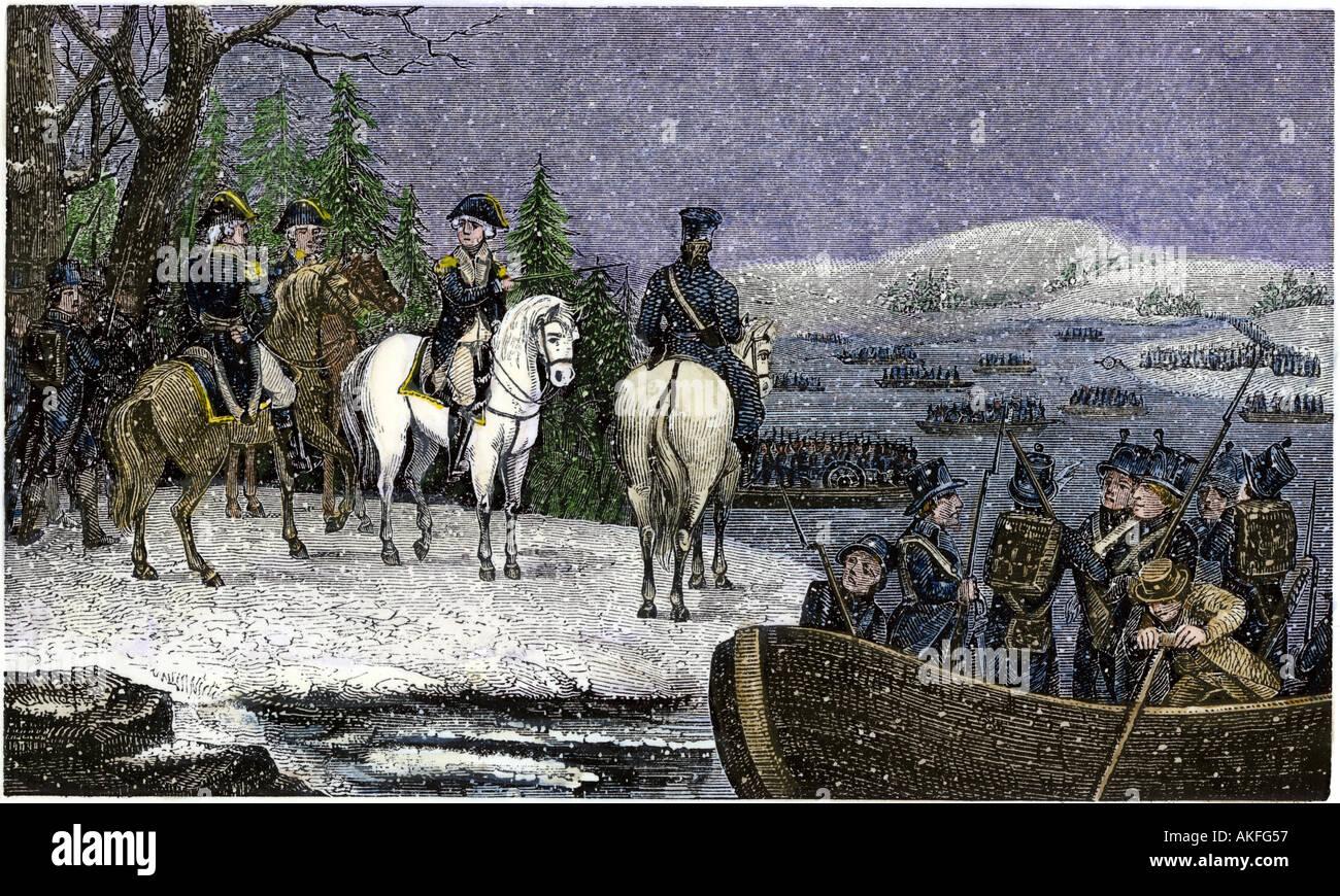 George Washington Crossing The Delaware Imágenes De Stock & George ...