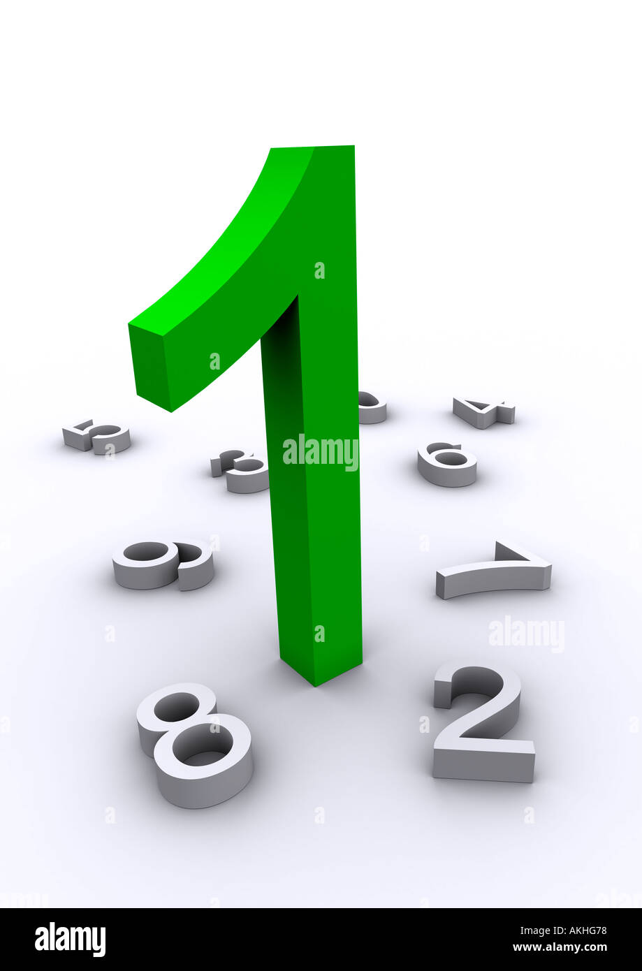 número 1 Imagen De Stock